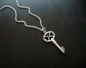 Silver Vintage-Inspired Key Necklace