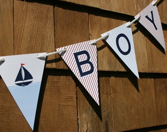 Nautical Sailboat Baby Shower Banner