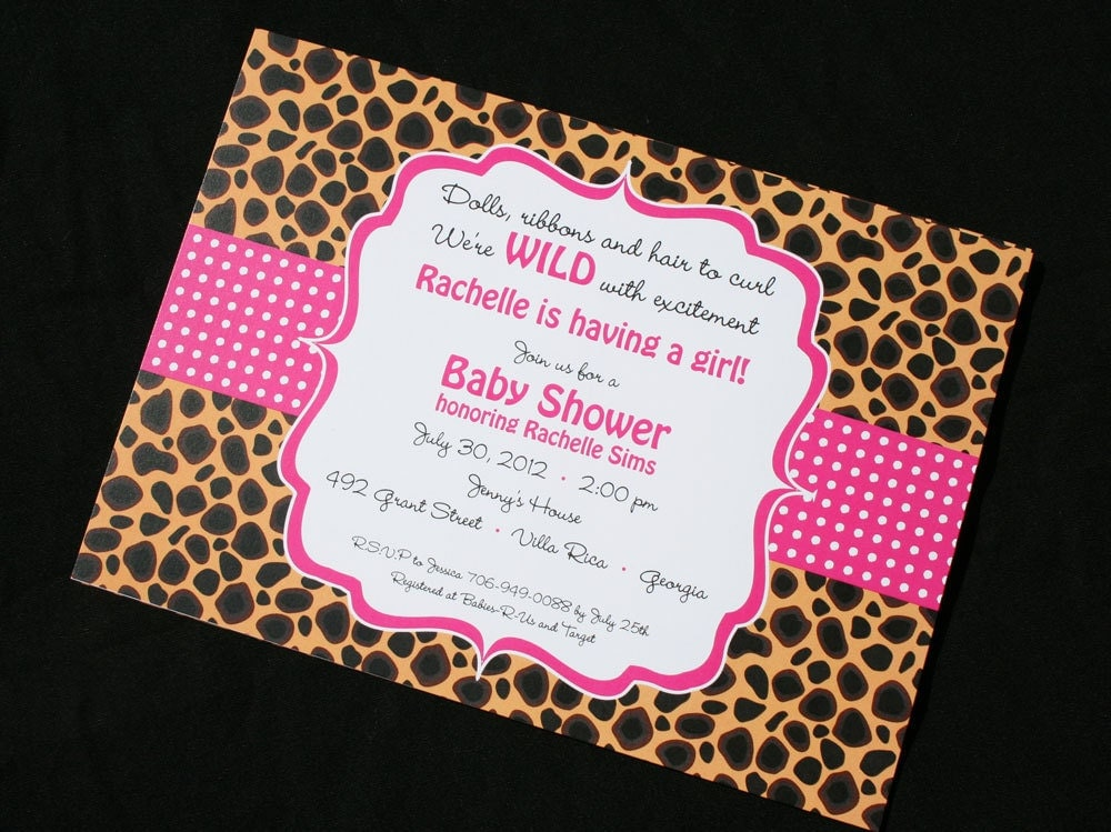 ... Cheetah Print Boy Baby Shower Themes. Updated: ...