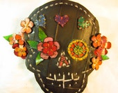 Sugar Skull hairclip commissioned by a client