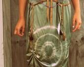Green Dyed  Layered Skirt   medium