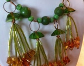 Green Peas and Grass Necklace Sale Price