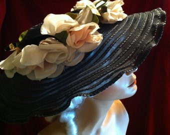 Beautiful Sheer Black Sun Hat