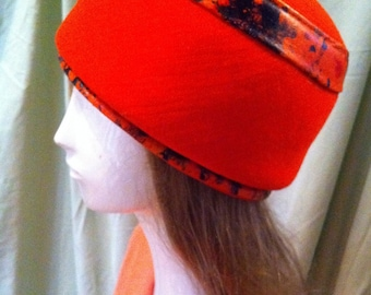 Groovy Retro Orange Mod Hat