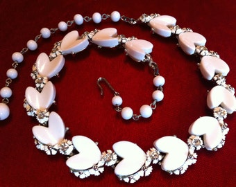 Thermoset Hearts Necklace by B.S.K.