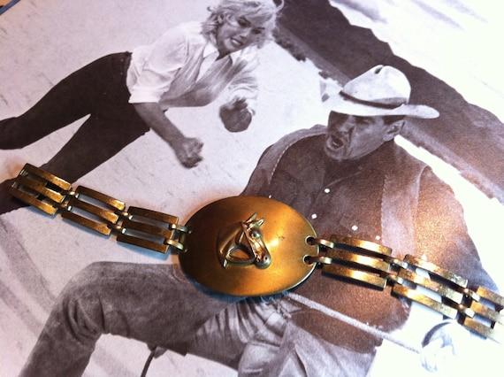 Horse Profile Vintage Bracelet 1950s Jewelry