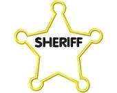 Sheriff Star Badge Applique Design Machine Embroidery Design INSTANT DOWNLOAD