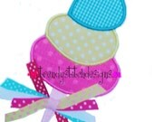 Cotton Candy Applique Machine Embroidery Design INSTANT DOWNLOAD