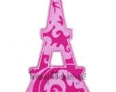 Eiffel Tower Applique Design Machine Embroidery Design INSTANT DOWNLOAD