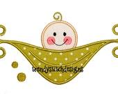 PeaPod 2  Applique Design Pea Pod Baby INSTANT DOWNLOAD