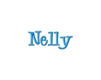 Nelly Font Machine Embroidery Design INSTANT DOWNLOAD BX