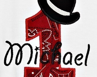 Cowboy Hat Birthday Numbers Font Applique Machine Embroidery Design INSTANT DOWNLOAD