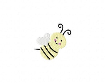 Cute BumbleBee MINI Made To Match Filled Stitch Machine Embroidery Design INSTANT DOWNLOAD