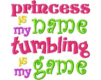 Tumbling Game Machine Embroidery Design INSTANT DOWNLOAD gymnastics