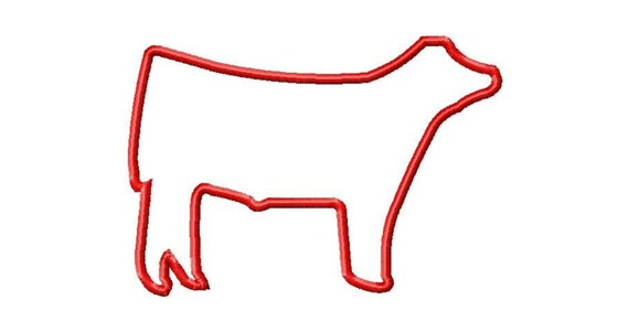 Show Steer Applique Machine Embroidery Design INSTANT DOWNLOAD