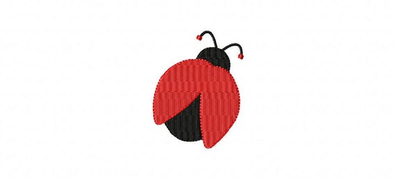 Ladybug MINI Made To Match Filled Stitch Machine Embroidery Design INSTANT DOWNLOAD