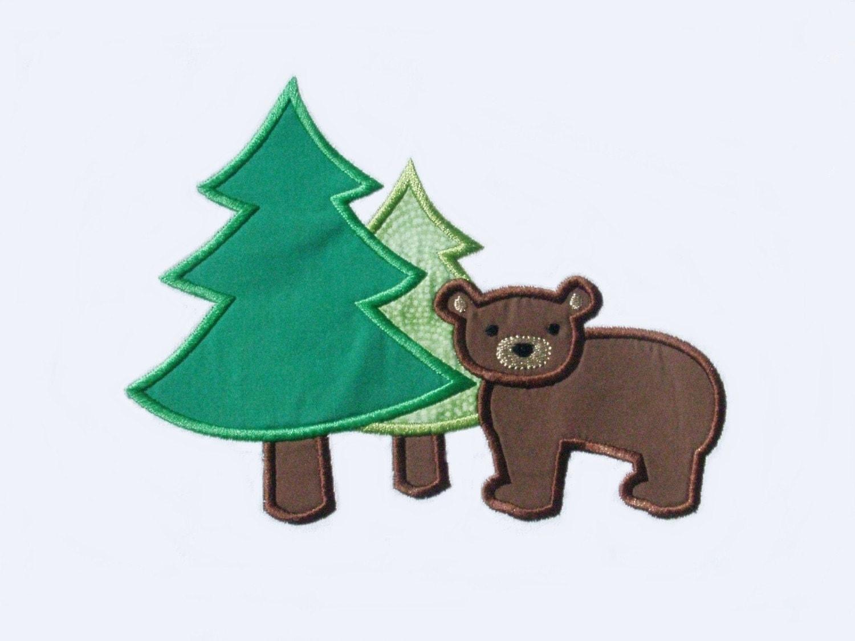 Bear design embroidery machine vintage