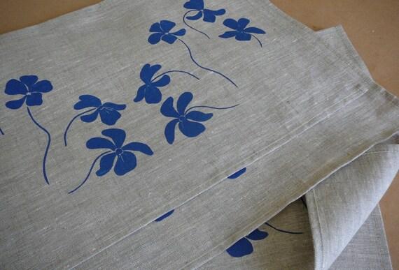 Screen Printed Linen Place Mats (4)