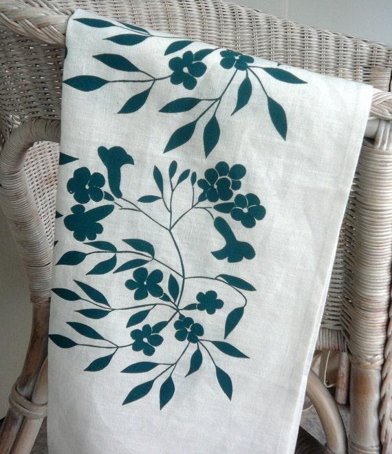 Screen Printed Linen Tea Towel