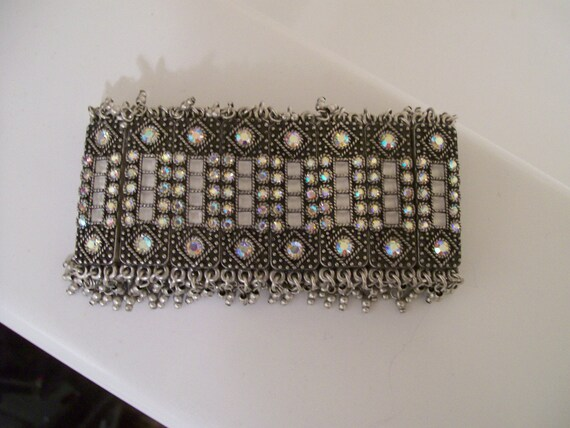 Gorgeous Vintage Silvertone and Colored Rhinestones