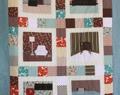 Customized Machine Applique Quilt - Rooms Hold Memories