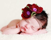 Girls Customizable Headband: Handmade-to-Order Fabric Flower Hair Accessory (You Pick the Color& Band Size)