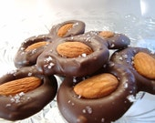 Best Chocolate Desserts - Almond Rondells - Best Desserts - Organic Nuts - Fleur de sel - Gourmet Chocolate - Pernilla