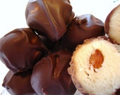 SWEDISH BON BONS. Mmmm, So Yummy. Organic/raw Almond center surrounded by the finest Marzipan and hand dipped in my gourmet chocolate blend.