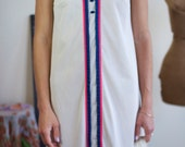 RESERVED sleeveless tank dress with colorful piping