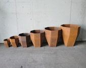 Wyatt Studio Steel Rhombicub Containers