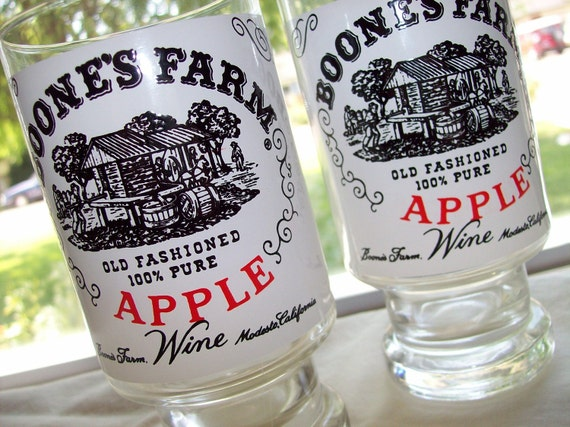 Vintage Boone S Farm Apple Wine Glasses By Irishcolleen01