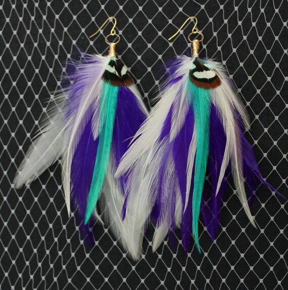Time Traveler - Long Feather Earrings
