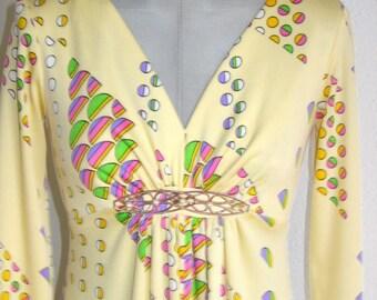 70s   Vintage Princess  Maxi dress