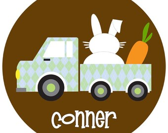 Easter Bunny Truck Children's Personalized Tee