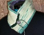 Reversible Cowl / Collar / Ear Warmer: Greens