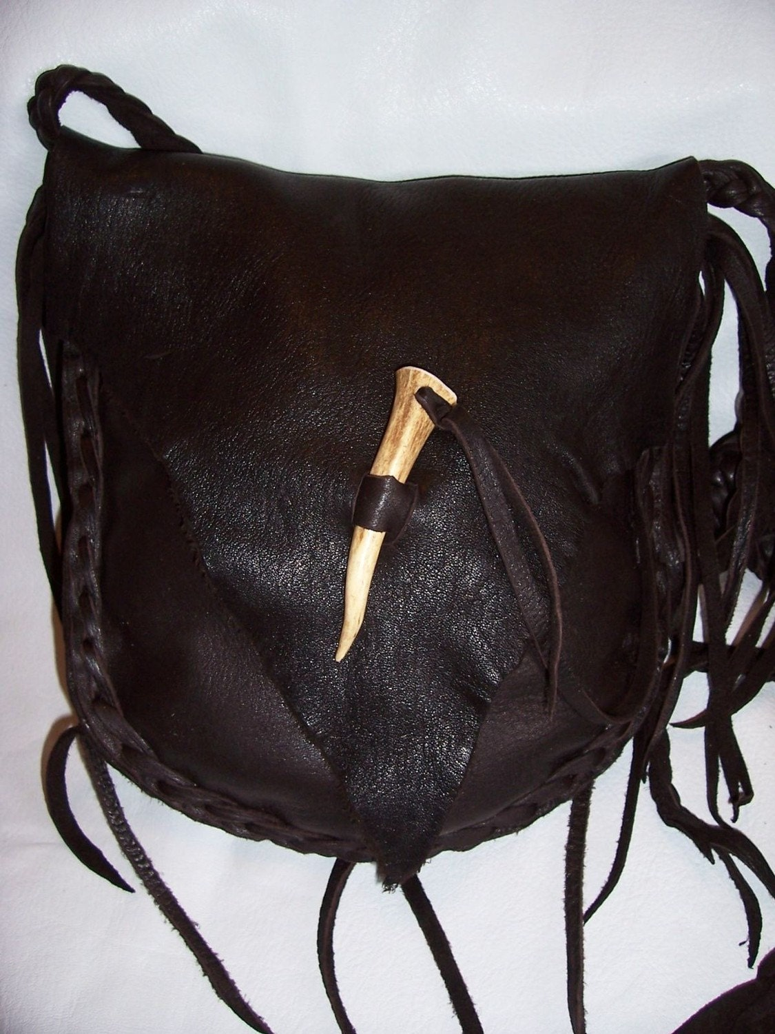 possibles bag leather black powder rendezvous