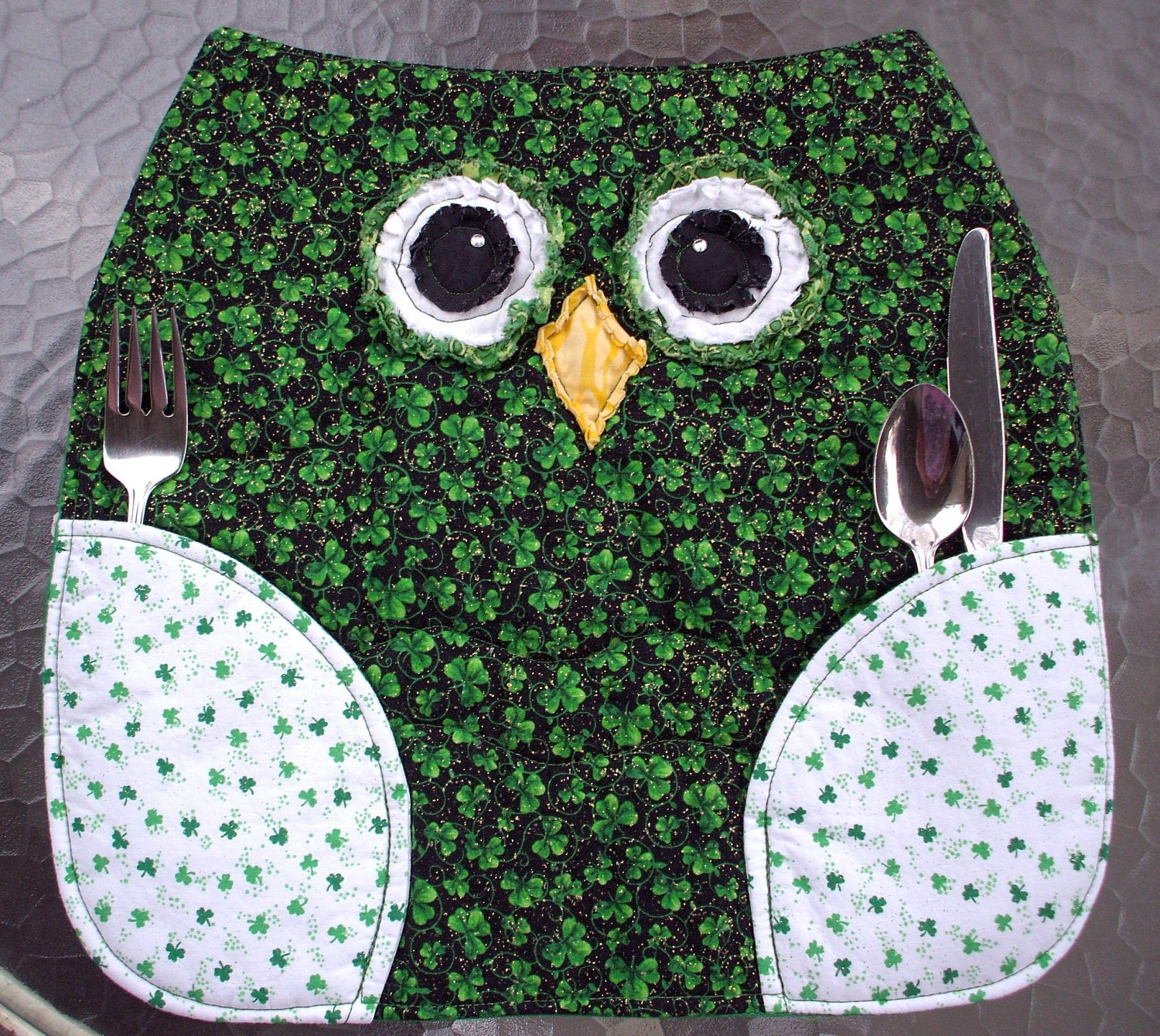 owl placemats st patrick 39 s day set of two