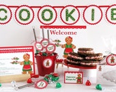 Gingerbread Woman Holiday Cookie Exchange Party DIY printable party kit - Includes custom invitation #PRN102