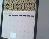 Large Dry Erase Calendar and Cork Board