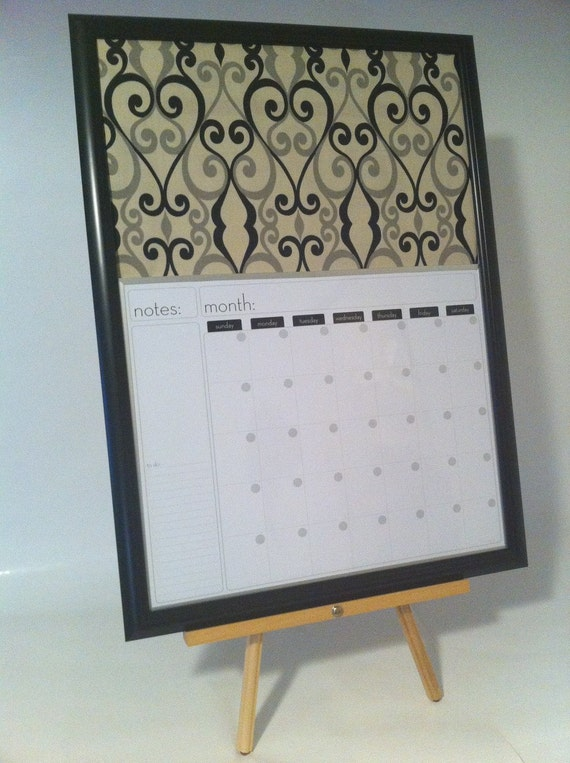 Dry Erase Calendar And Cork Board : Large dry erase calendar and cork board