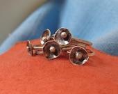 Flower Stacking Ring Silver Buttercup Blossom Organic Rustic JJDLJewelryArt