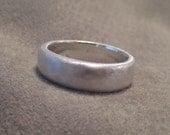 Mens Wedding Band Fine Silver Recycled Natural Organic Mans Ring JJDLJewelryArt