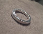 Commitment Ring Silver Promise Engagement Band Organic Rustic SALE JJDLJewelryArt