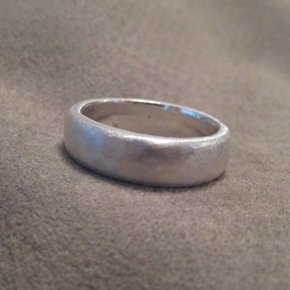 Items Similar To Mens Wedding Band Fine Silver Recycled Natural Organic Mans Ring JJDLJewelryArt
