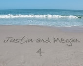 Beach Personalized Photo Place Card and Favor All In One