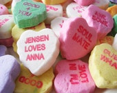 Sweethearts Candy Personalized  Print- You Choose Names for Heart, Unique Wedding Gift, Custom Valentine's Day Gift, Anniversary Gift