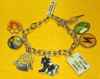 CUSTOM POKEMON ELEMENT charm bracelet