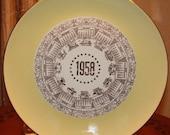 SALE 1958 Calendar Plate