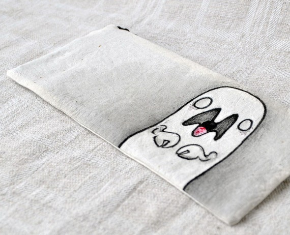 Simple handpainted pouch: Big Mouth