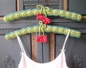 Granny Chic Hangers With Crocheted Covers